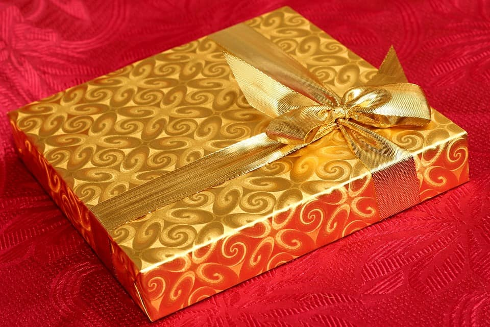Christmas present package